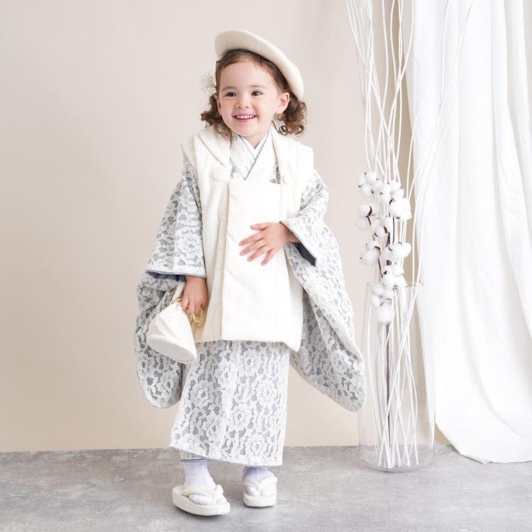 女の子 七五三 3歳着物 被布セット(画像)