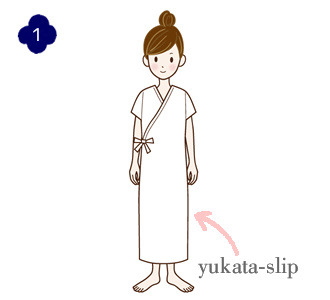 How to wear a yukata, step 1