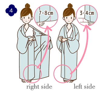 How to wear a yukata, step 4
