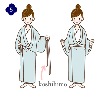 How to wear a yukata, step 5