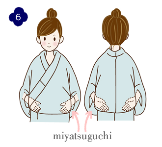 How to wear a yukata, step 6