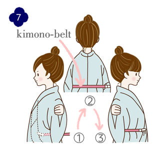 How to wear a yukata, step 7