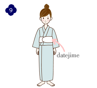 How to wear a yukata, step 9
