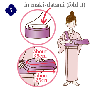 How to attach a yukata and kimono belt Step 3
