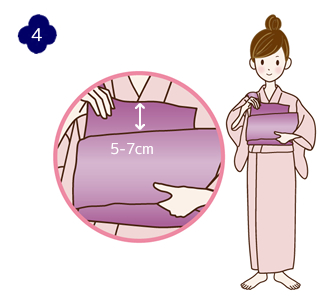 How to attach a yukata and kimono belt Step 4