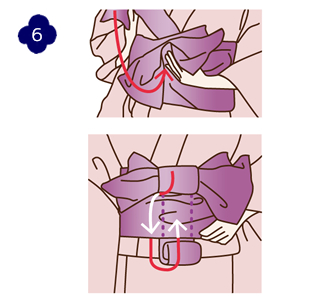 How to attach a yukata and kimono belt Step 6
