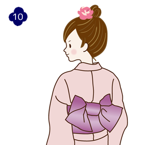 How to attach a yukata and kimono belt Step 10