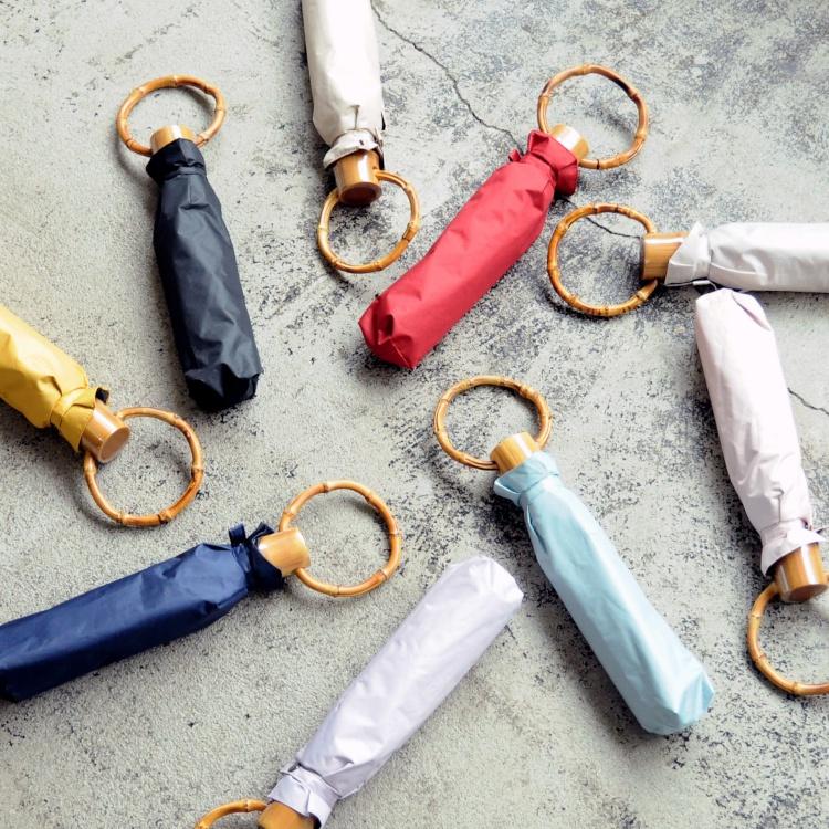 [utatane]日傘 完全遮光 折りたたみ 3段 親骨50cm 晴雨兼用 無地 全10色(2512601701)