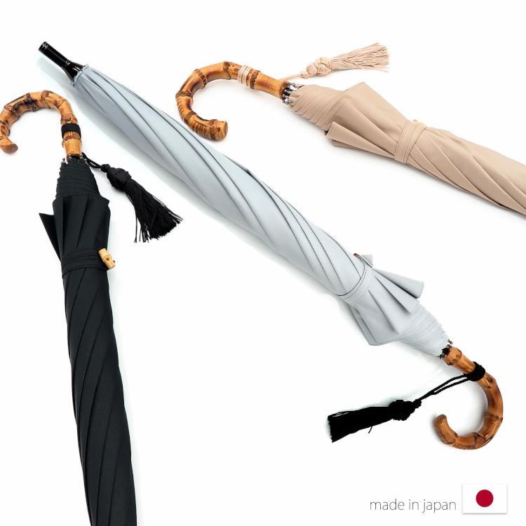 [utatane] 日本製 日傘 完全遮光 晴雨兼用 スライドショート 親骨47cm 無地 全3色(2513608501)