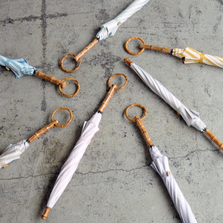 [utatane] 日傘 完全遮光 晴雨兼用 スライドショート 親骨47cm ストライプ 全7色(2513612501)