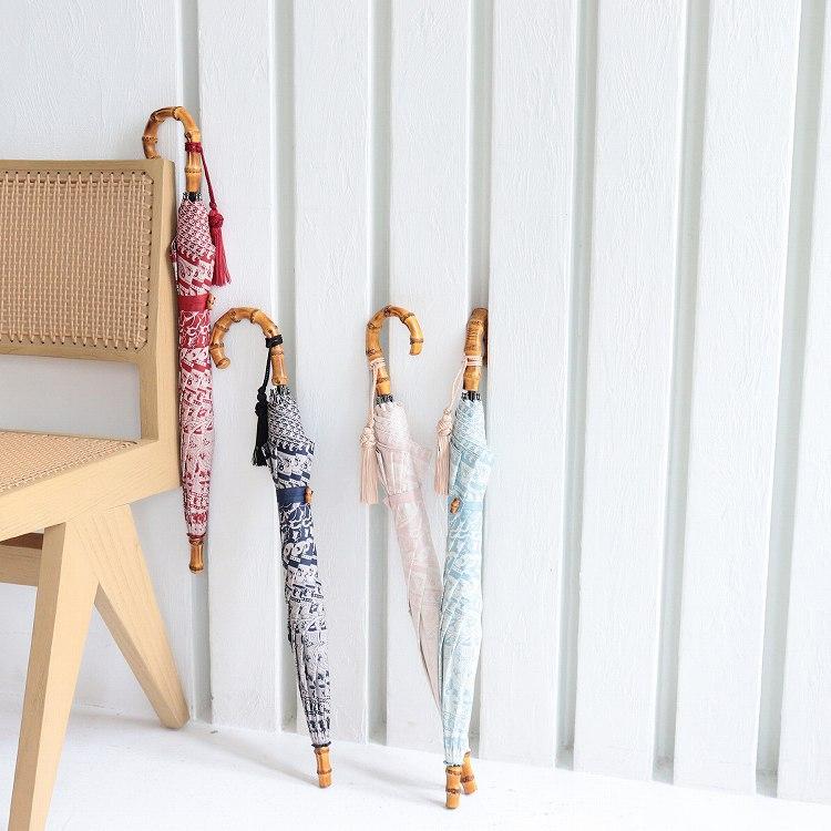 [utatane] 日傘 完全遮光 晴雨兼用 スライドショート 親骨47cm 更紗柄 全3色(2513613501)