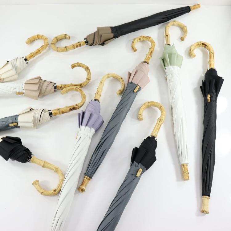 [utatane] 日傘 完全遮光 晴雨兼用 スライドショート 親骨47cm 無地 全10色(2513613801)