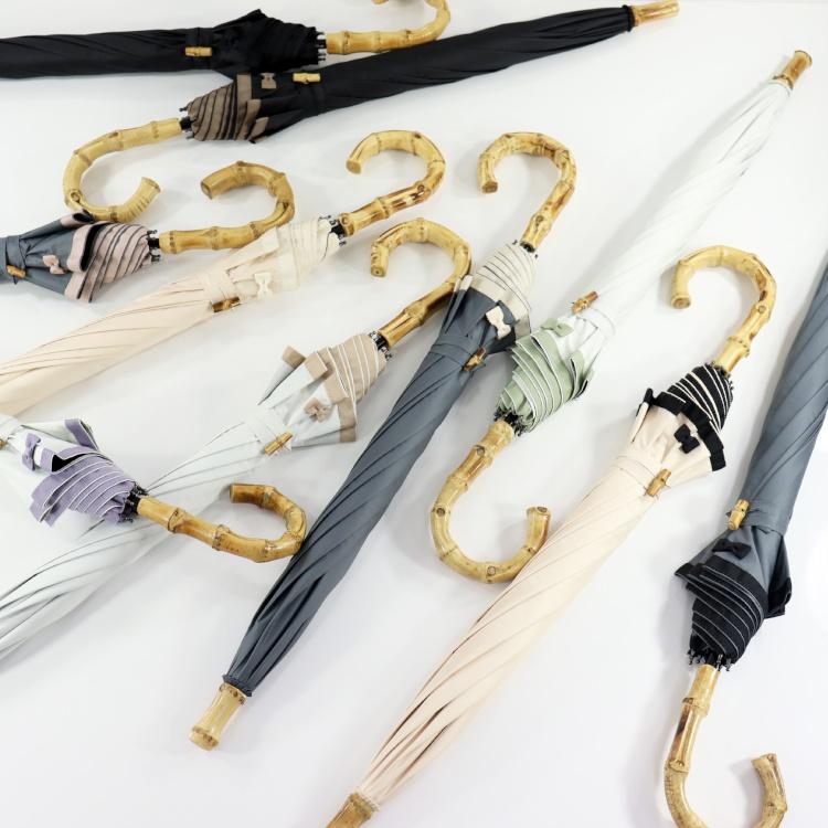 [utatane] 日傘 完全遮光 晴雨兼用 スライドショート 親骨47cm 無地 全10色(2513614801)
