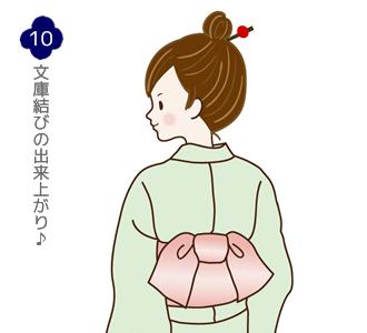 帯結び(文庫結び)手順10