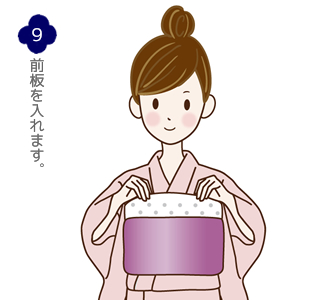 帯結び(蝶)手順9