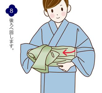 帯結び(兵児帯都結び)手順8