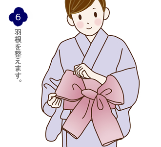 帯結び(兵児帯リボン結び)手順6