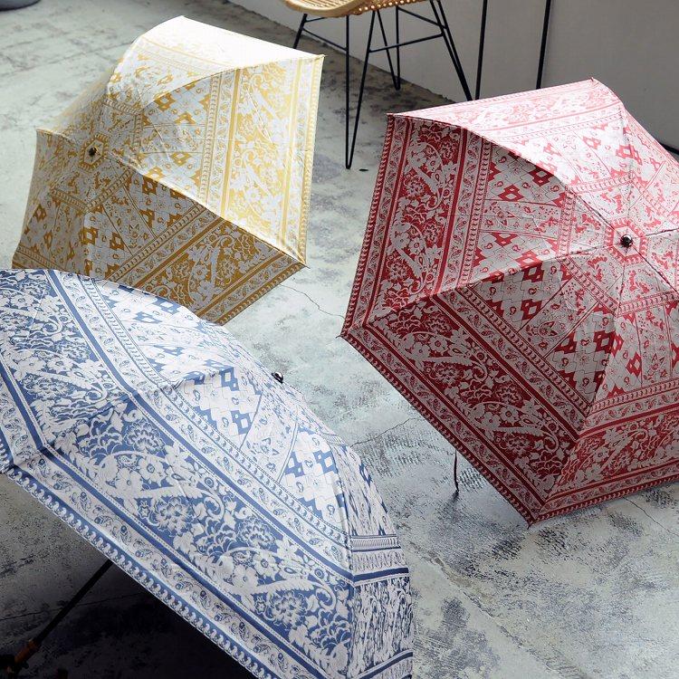 更紗柄の日傘3種
